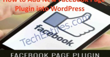 How to Add New Facebook Page Plugin into WordPress