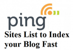 Free Top High PR 7- PR 1 Ping Sites List of 2020