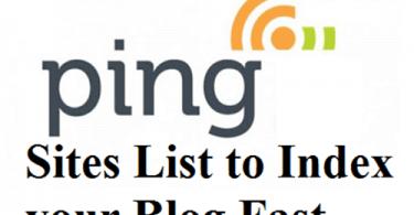 Free Top High PR 7- PR 1 Ping Sites List of 2020